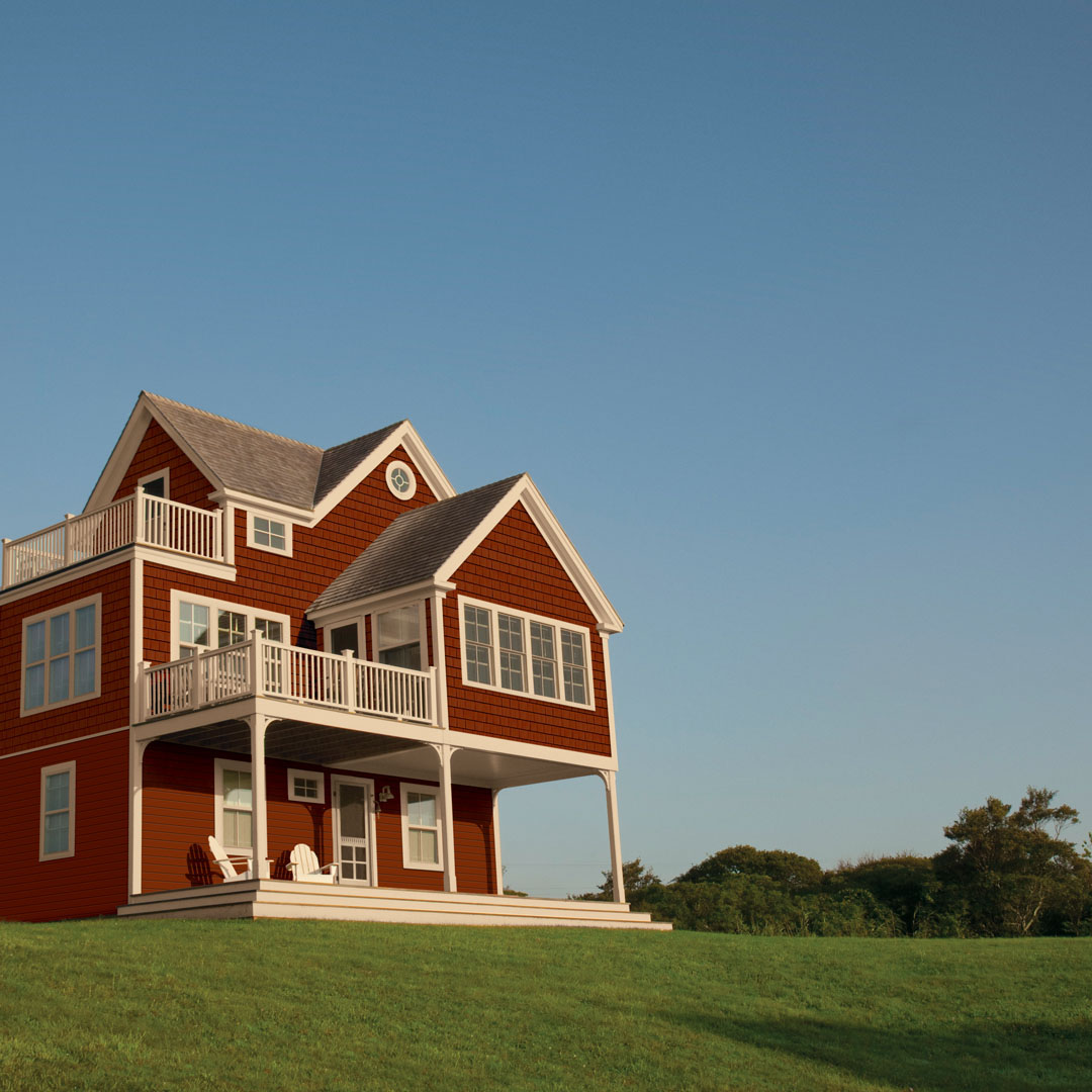 redwood portsmouth shake and shingles on multi-story home