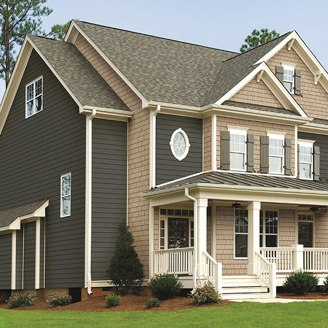 estate vinyl siding one story home exterior